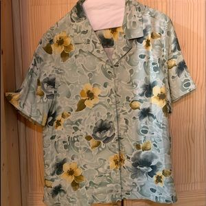 Women's Tommy Bahama Floral Blouse XL (16)